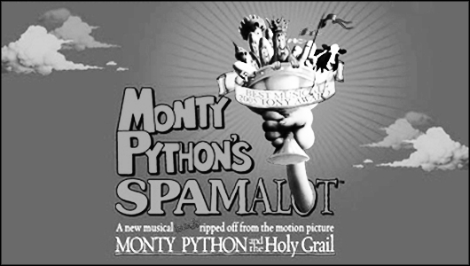 spamalot response Shining knights and amour in 'spamalot' 1 / 1 back to gallery  it's clear from audience response that many also come to see john o'hurley, who stars as king arthur.